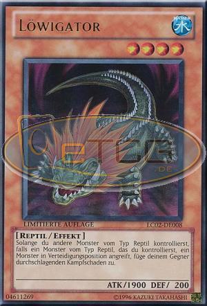 Ultra Rare DE NM Löwigator LC02-DE008